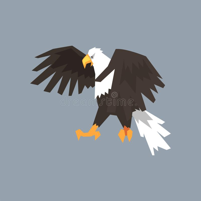 North American Bald Eagle Symbol Of Freedom And Independence Vector