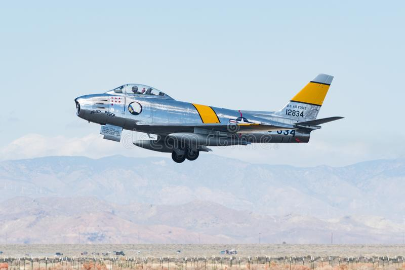 North American F-86F Sabre royalty free stock images