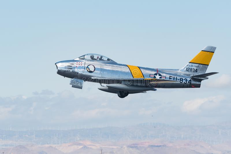 North American F-86F Sabre stock photography