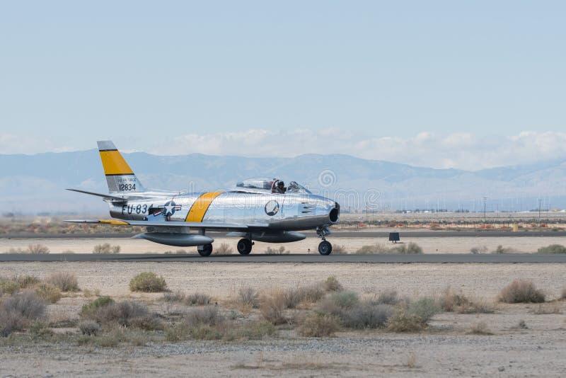 North American F-86F Sabre stock photo