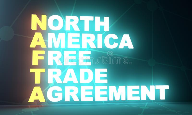 North American Free Trade Agreement acronym royalty free stock photos
