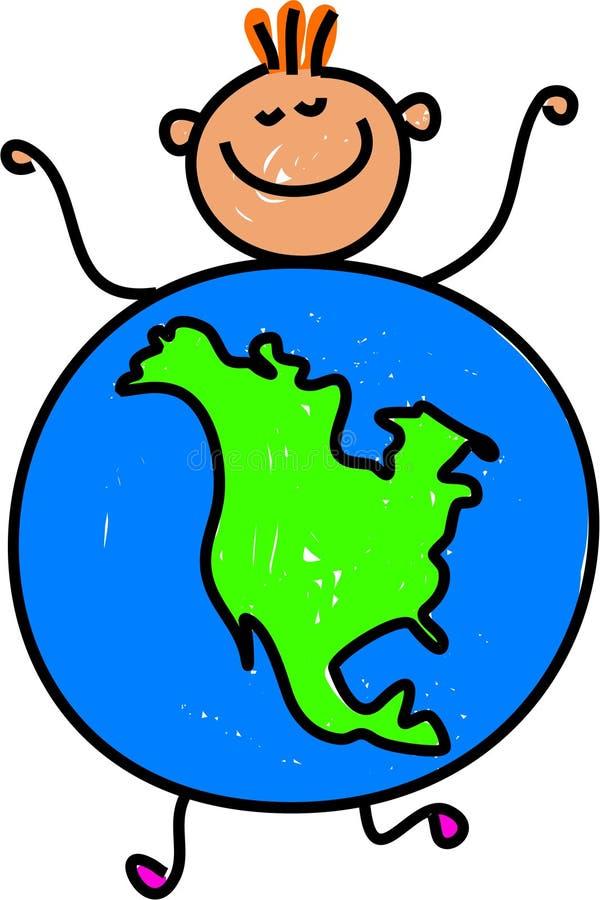 North American kid vector illustration