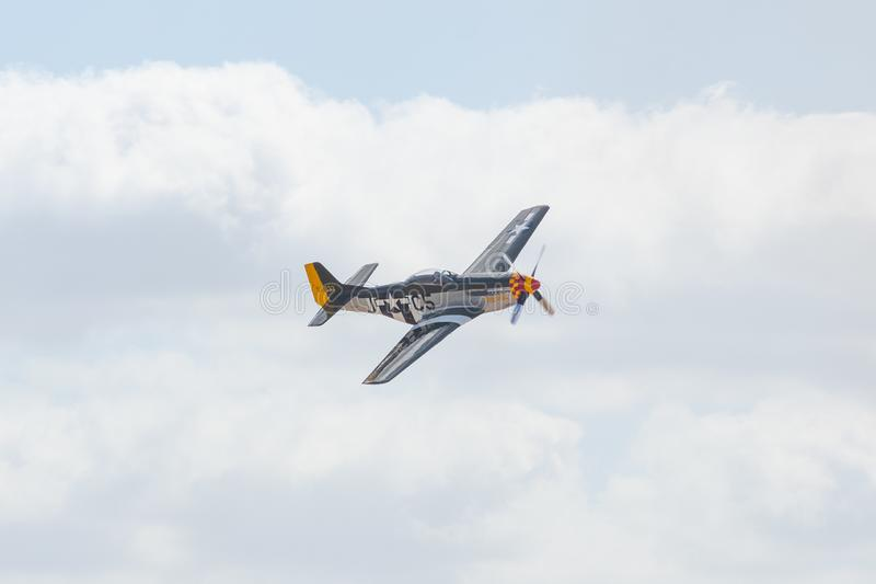 North American P-51D Mustang during the Miramar Air Show royalty free stock photos
