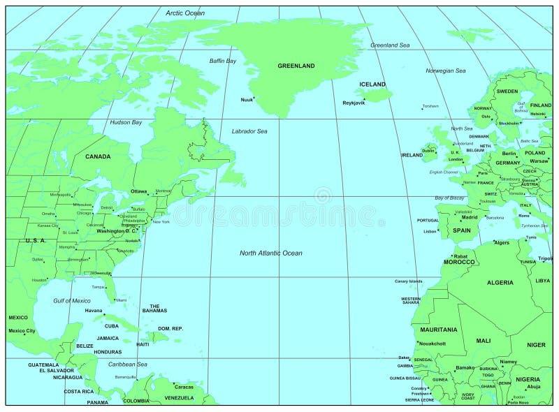 North Atlantic Ocean royalty free illustration