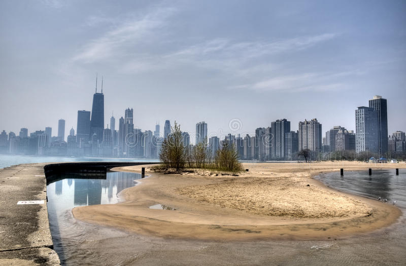 North Avenue Beach in Chicago stock photography