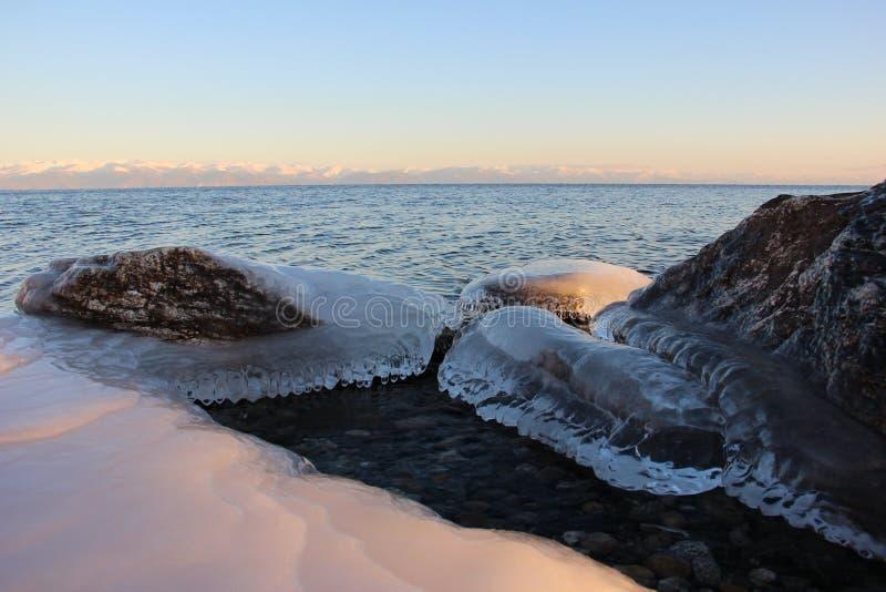 North Baikal Russia Buryatia Winter stock image