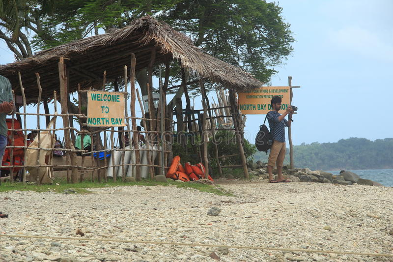 North Bay Island Andaman. royalty free stock photo