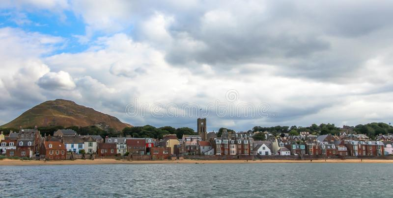North Berwick , a seaside town and former royal burgh in East Lothian, on the south shore of the Firth of Forth, Scotland. Summer vacation in the UK - Sea view stock photo