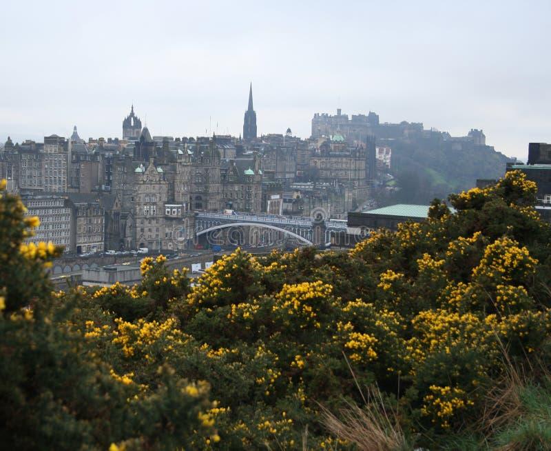 North Bridge and Edinburgh castle. Scotland royalty free stock photos
