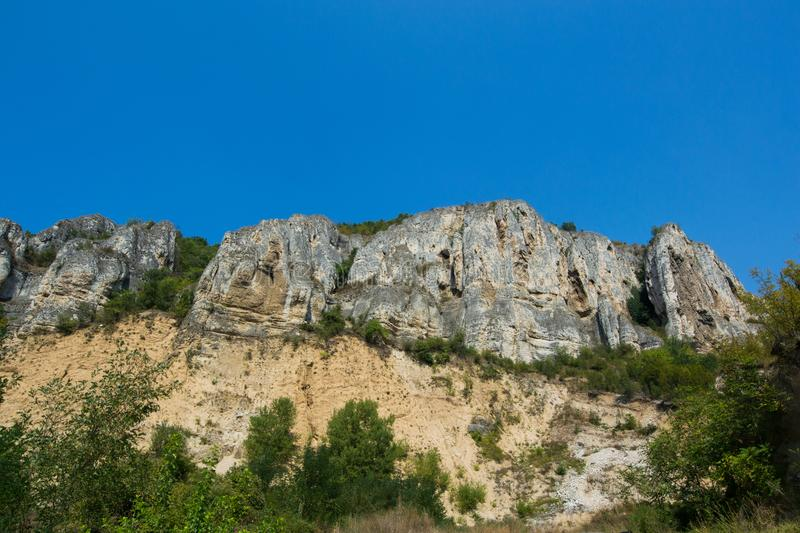 North Bulgaria mountain. Mountains in the north part of Bulgaria. Clear blue sky, green forest trees and a wonderful weather royalty free stock image