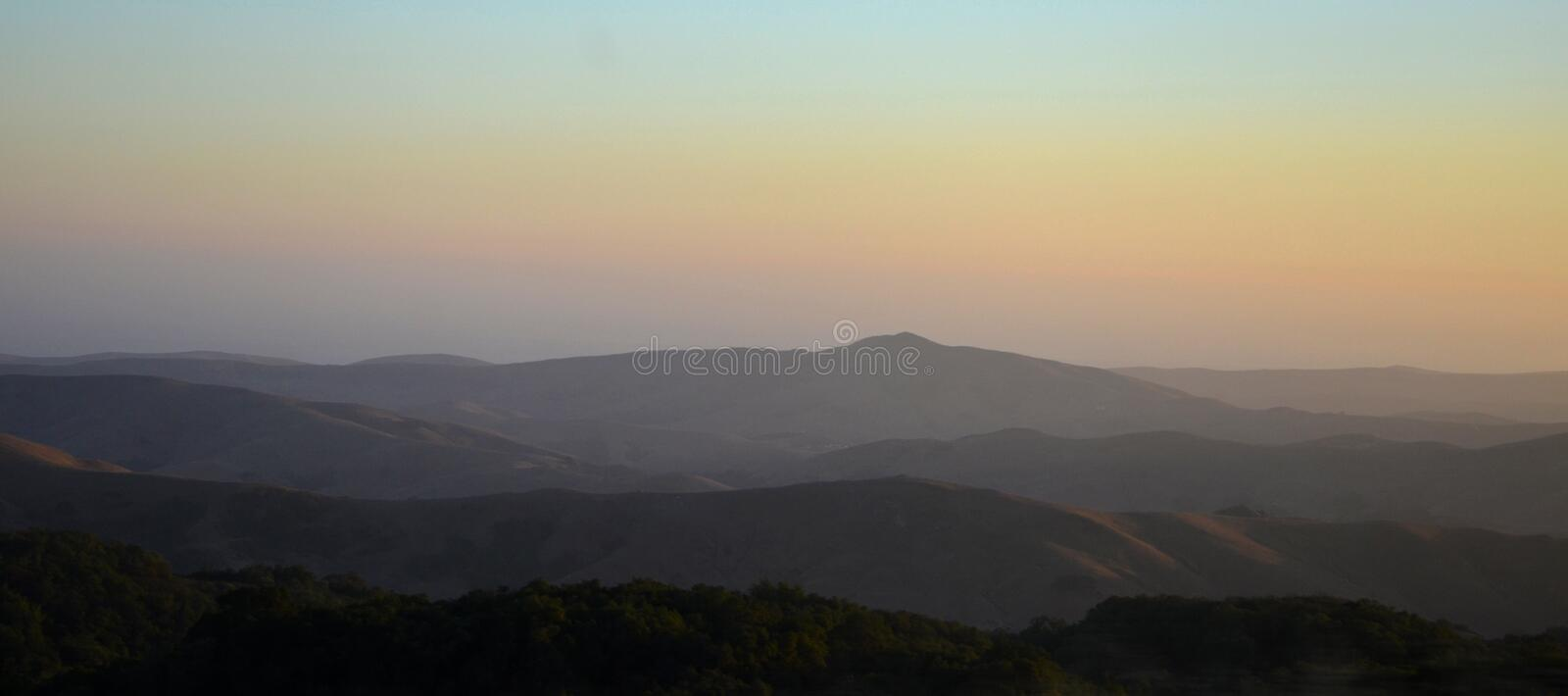 North California mountains in late summer with blue sky. North California mountains in late hot summer with blue sky america american big cloud cloudy coast royalty free stock images