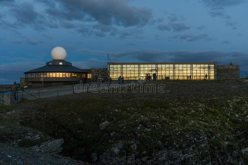North Cape Hall at island of Mageroya, Norway. North Cape Hall at Mageroya island, Norway royalty free stock image