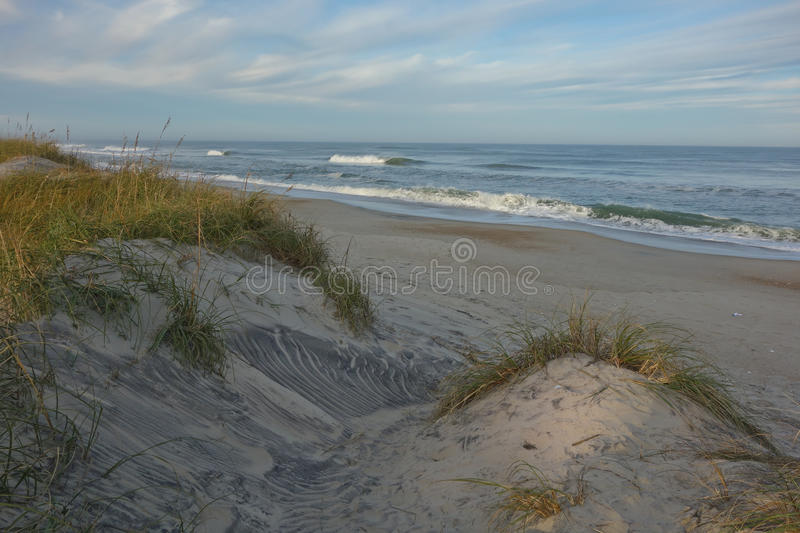 North Carolina deserted beaches from sand dunes royalty free stock photography