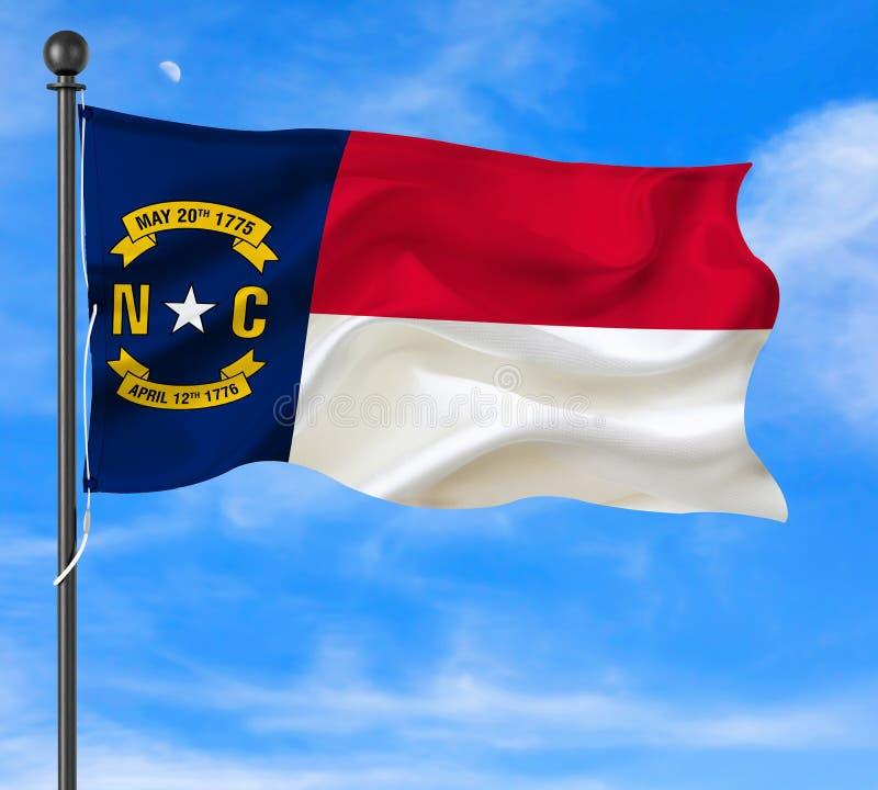 North Carolina Waving Flag stock images