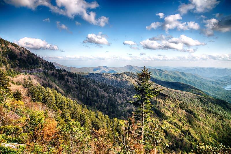 North Carolina Great Smoky Mountain Scenic Landscape stock photo