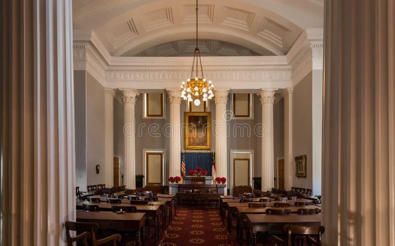 North Carolina House chamber stock photography