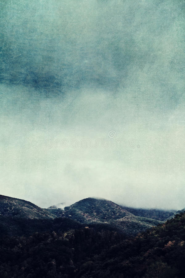 North Carolina Mountains. Textured image of the mountains of North Carolina with copy space royalty free stock photo