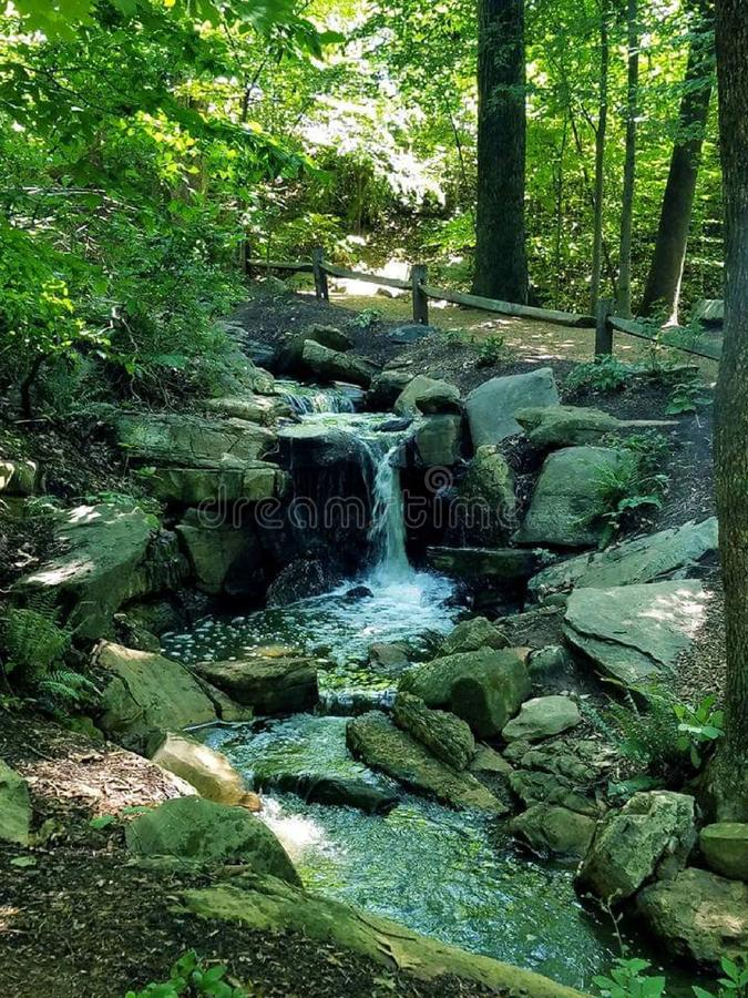 North Carolina Park Water Over Rocks royalty free stock photos