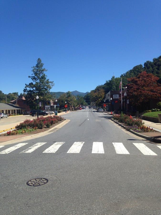 North Carolina-Straßen lizenzfreie stockfotos