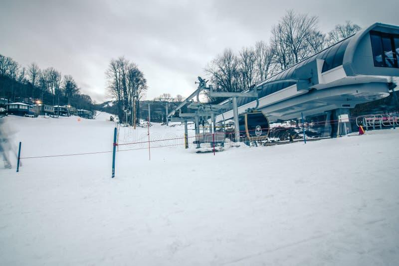 North carolina sugar mountain skiing resort destination royalty free stock image