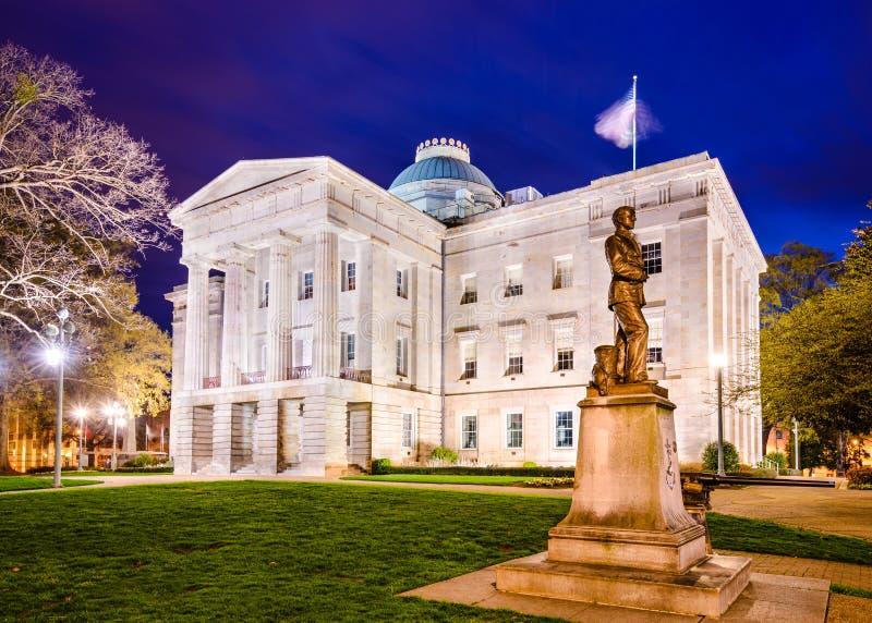 North Carolina tillståndsCapitol arkivbild