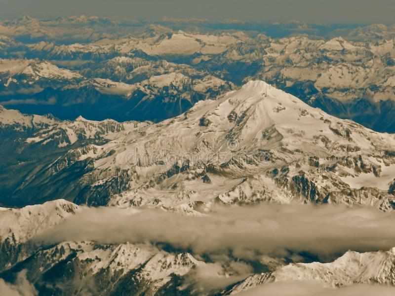 North Cascade Mountains from a Airplane2 stock images