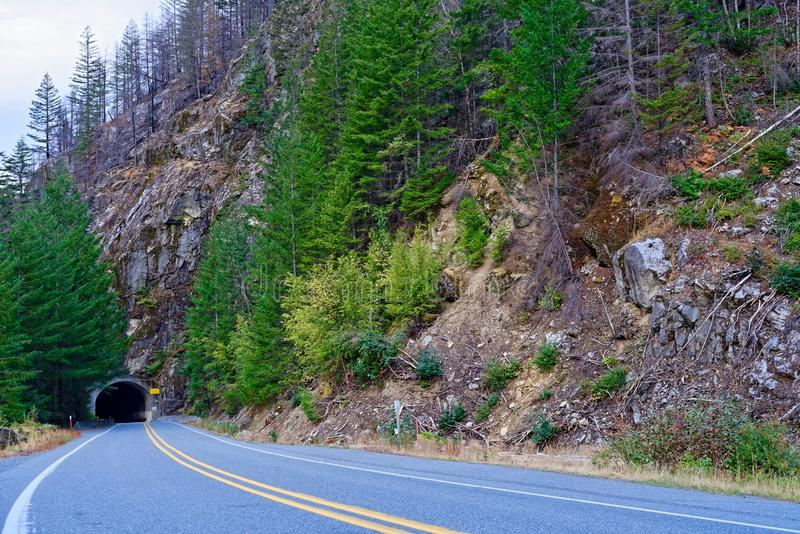 North Cascades Highway stock image