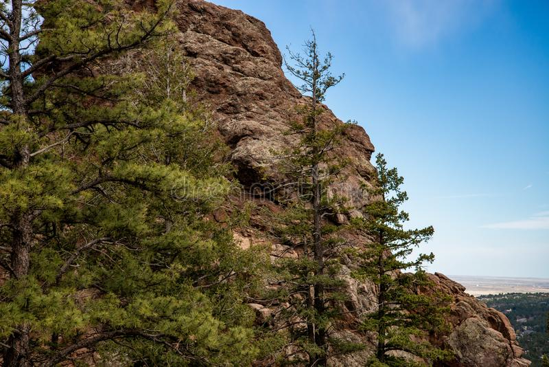 North cheyenne canyon canon colorado springs. Mountain landscape forest views of vacation travel royalty free stock photo