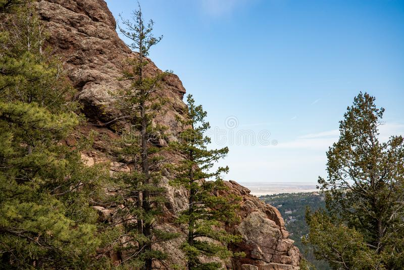 North cheyenne canyon canon colorado springs. Mountain landscape forest views of vacation travel stock photography