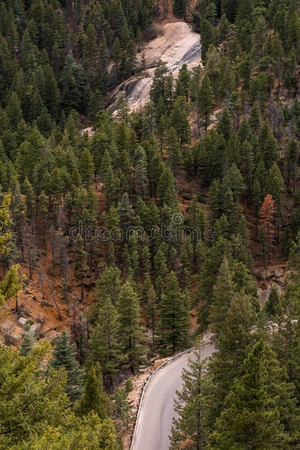 North cheyenne canyon canon colorado springs royalty free stock images