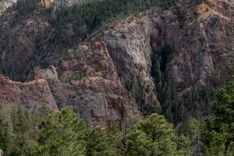 North cheyenne canyon canon colorado springs stock image