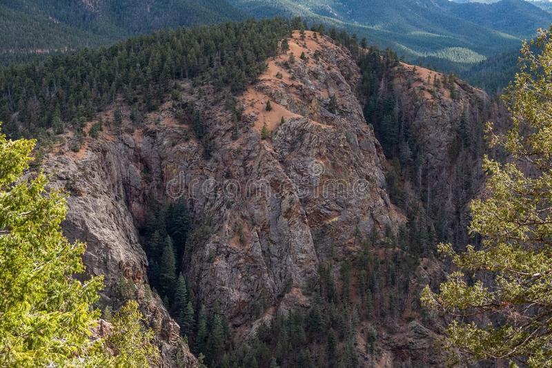 North cheyenne canyon canon colorado springs stock photo