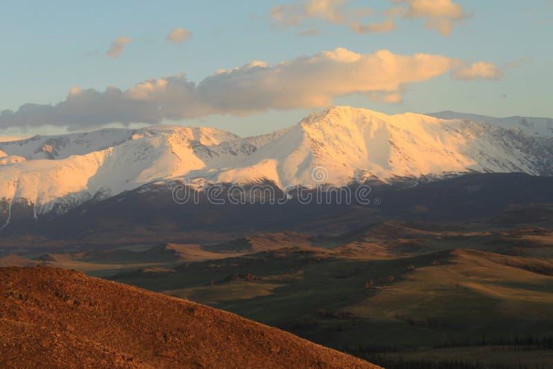 North-Chuya ridge at sunset royalty free stock photos