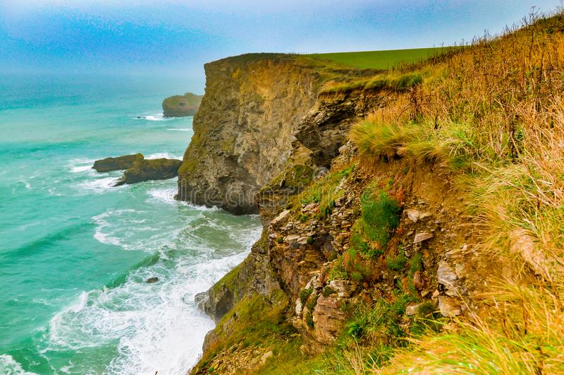 North Cliffs in the south east of England. stock photography