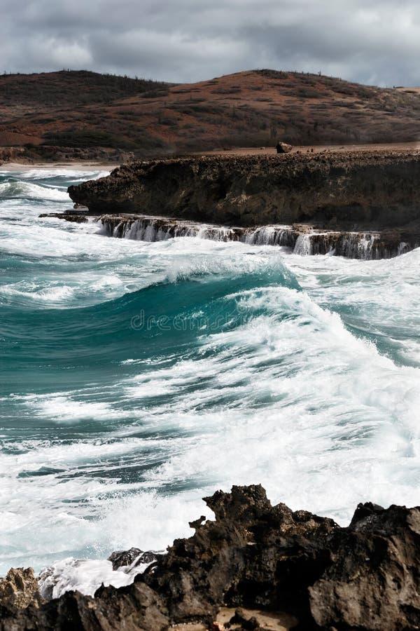 Download North coast of Aruba stock photo. Image of heavy, surf - 21141698