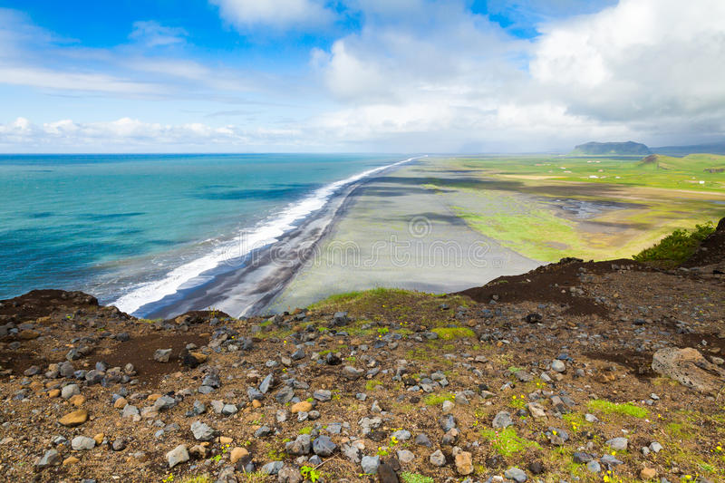 North coast of Dyrholaey Promontory, Iceland royalty free stock photography