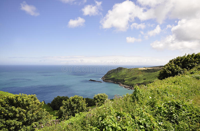 North coast in Jersey,Channel Islands stock photo