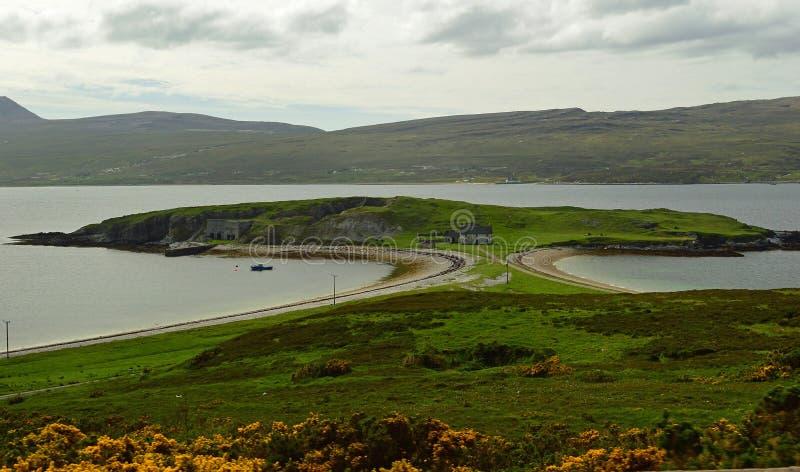 Loch Eriboll, a deep and long sea loch on the North Coast 500, Scotland United Kingdom Europe stock photos
