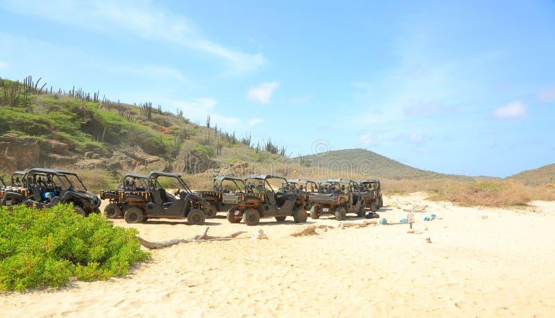 North coast. Off-road Aruba. Natural beauty of Aruba royalty free stock photography