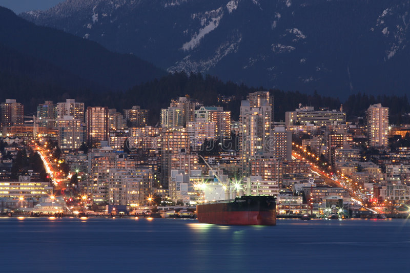 Download North Coastal Cityscape stock image. Image of port, glowing - 6899179