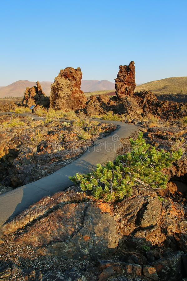 North Crater Flow Trail, Craters of the Moon National Monument stock photography