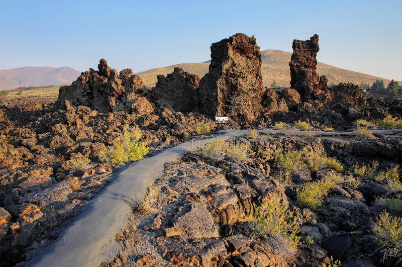 North Crater Flow Trail, Craters of the Moon National Monument, Idaho, USA stock photos