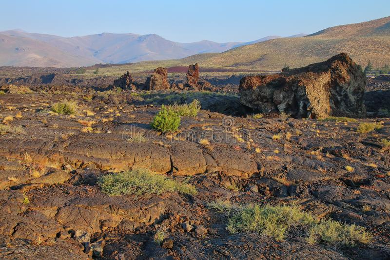 North Crater Flow Trail, Craters of the Moon National Monument, Idaho, USA royalty free stock image