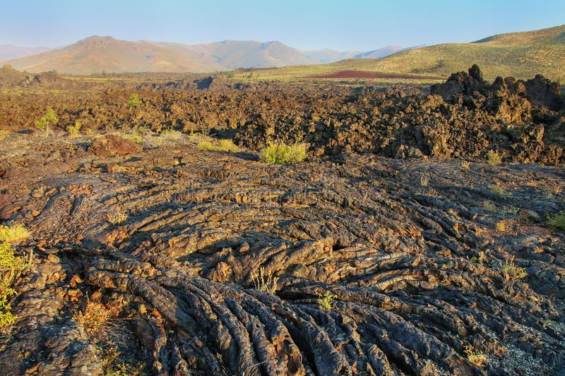 North Crater Flow Trail, Craters of the Moon National Monument stock image