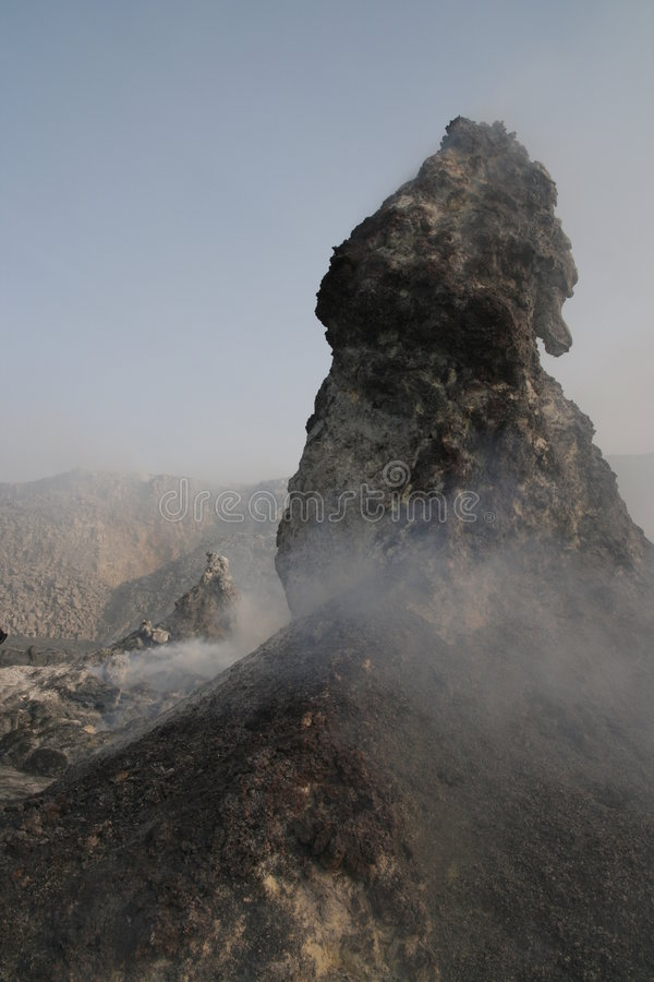 North Crater Hornito, Erta Ale Volcano, Africa Royalty Free Stock Photography