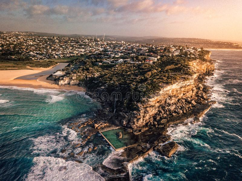 north curl curl rock pool stock photo  image of head