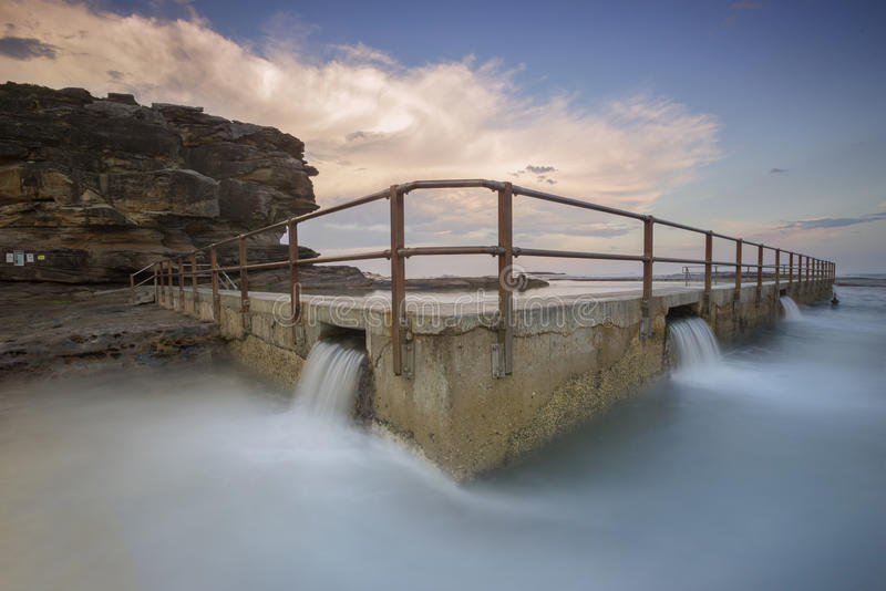 North curl curl rock pool stock photography