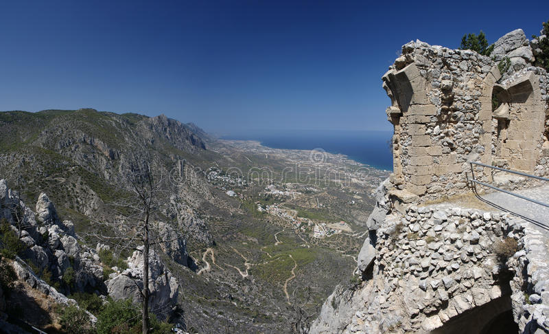 North Cyprus St. Hilarion stock image