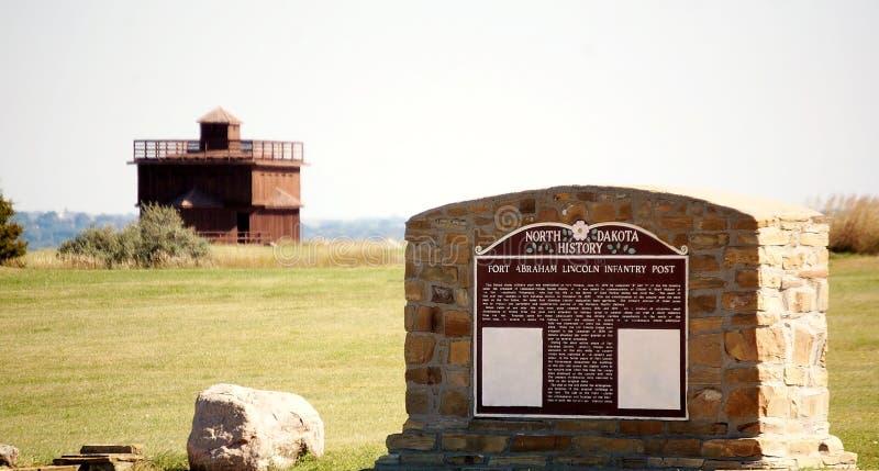 North Dakota historiskt fort arkivbilder