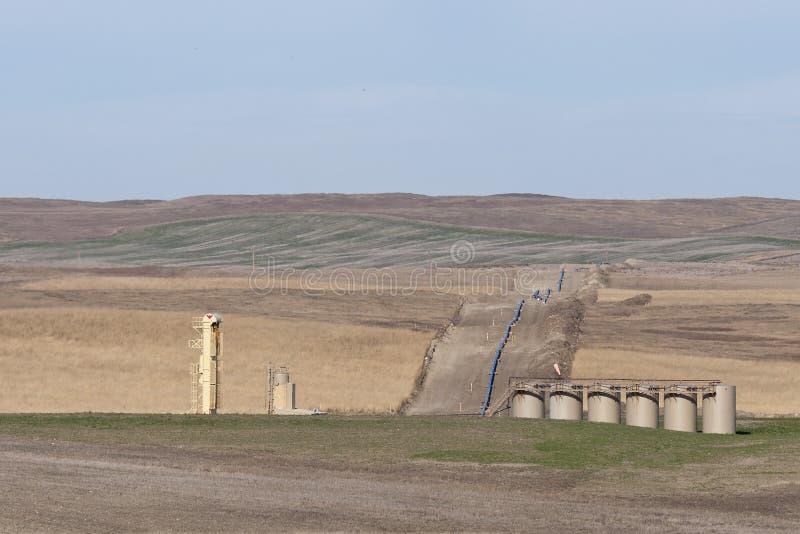 North Dakota Oil Pipeline. A North Dakota Natural Gas Pipeline royalty free stock photography